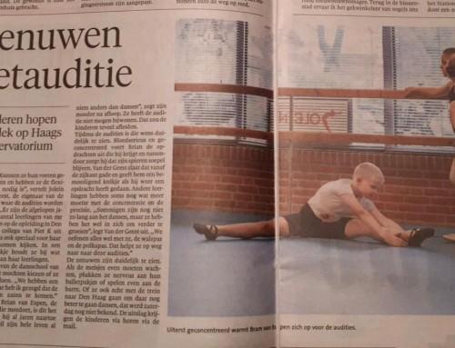 Auditie voor dansvakopleiding Koninklijk Concervatorium Den Haag